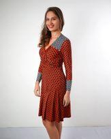 -Vestido-Jersey-Estampado-com-Transpasse-Vermelho