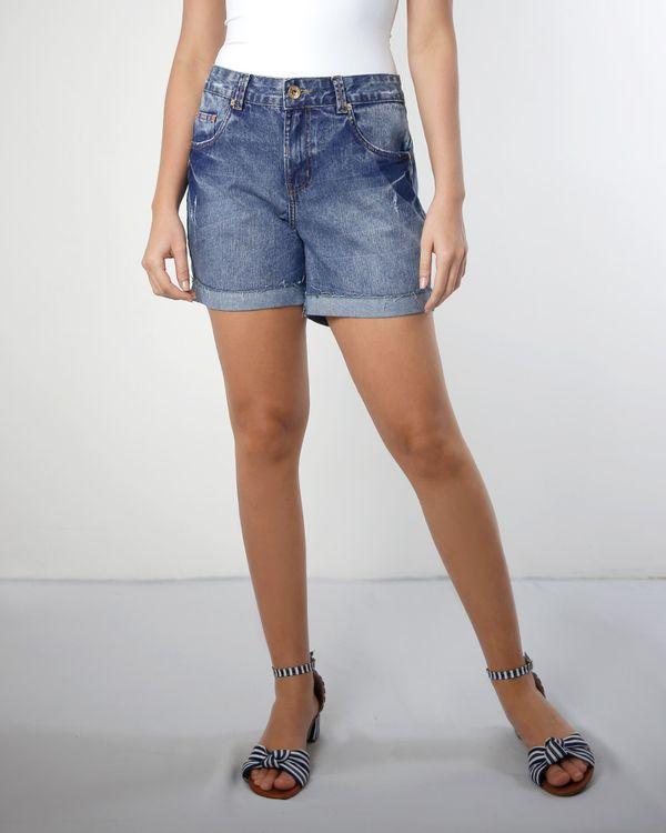 Short-Jeans-Bainha-com-Vira-Azul