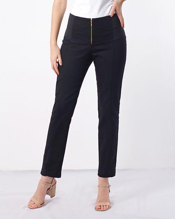 Calca-Jeans-Skinny-Cos-Elastico-Duplo-com-Ziper-Preto