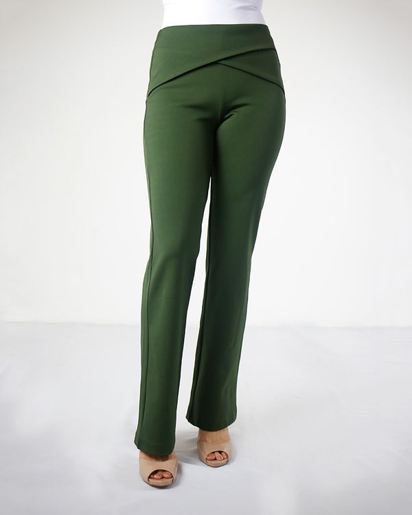 Calca-Boot-Cut-Malha-Pala-com-Transpasse-Verde
