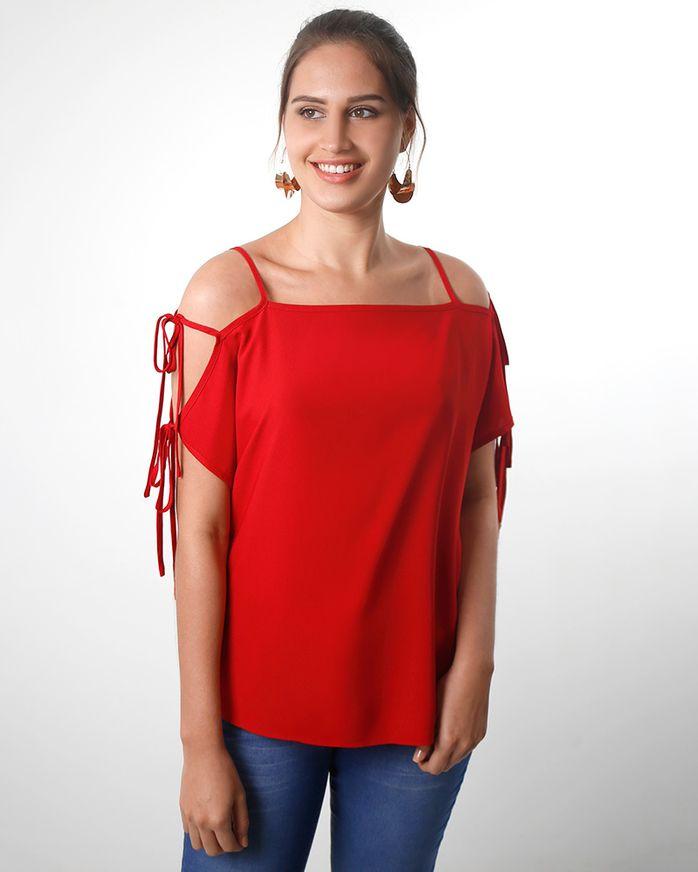 Blusa-Crepe-Ombro-Vazado-com-Amarracao-Vermelho