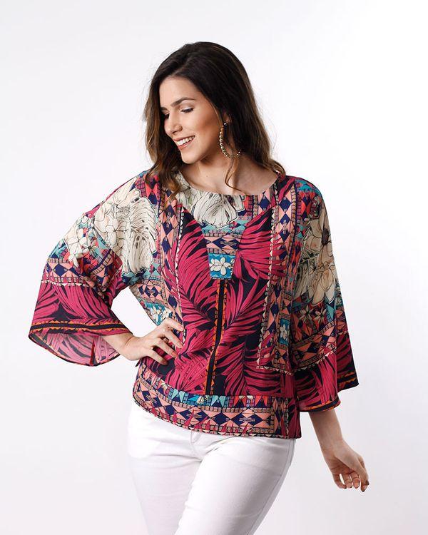 Blusa-Crepe-Estampa-Floral-Geometrica-Mangas-Flare-Estampado