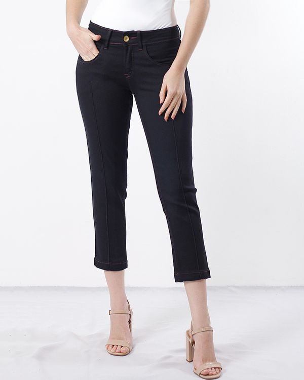 Calca-Jeans-Cropped-com-Friso-Black