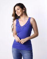 Blusa-Malha-Canelada-Decote-com-Renda-Azul