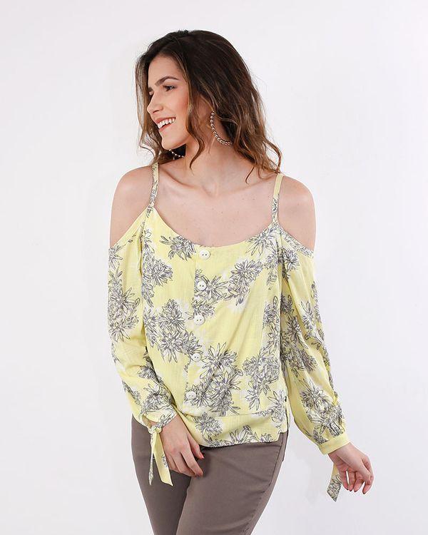Blusa-Viscose-Estampado-Ombro-Vazado-Frente-com-Botoes-Amarelo-