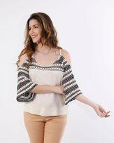 Blusa-Viscose-Ombro-Vazado-Mangas-Tela-Croche-Natural-