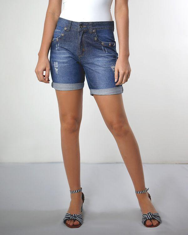 Bermuda-Jeans-Stonada-com-Rebites-Azul