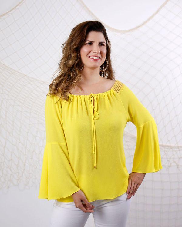 Blusa-Crepe-Ombro-a-Ombro-com-Tela-Amarelo-Siciliano