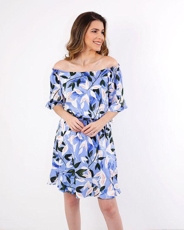 Vestido-Viscose-Estampado-Decote-Ombro-a-Ombro-Mangas-Assimetrica-Azul-