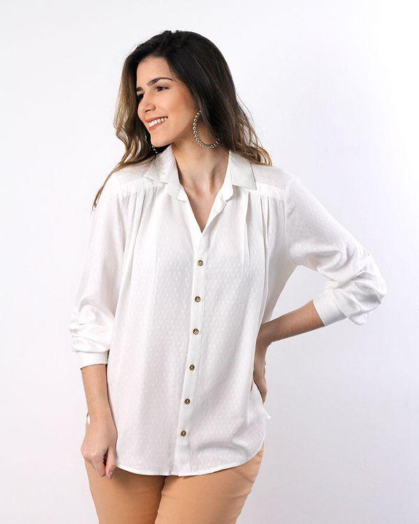 Camisa-Viscose-Maquinetado-com-Pregas-Off-White