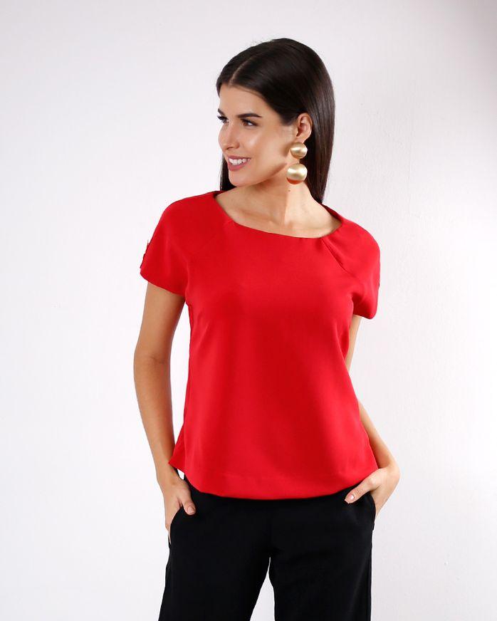 Blusa-Tecido-Ombro-a-Ombro-Mangas-com-Botoes-Vermelho