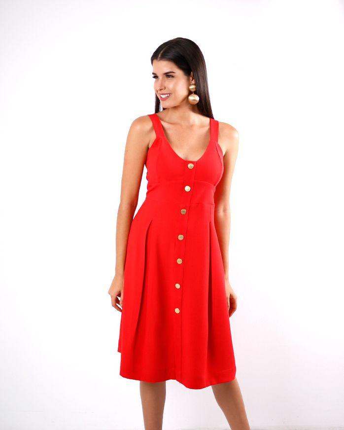 Vestido-Crepe-Alca-com-Abertura-Botoes-Vermelho-