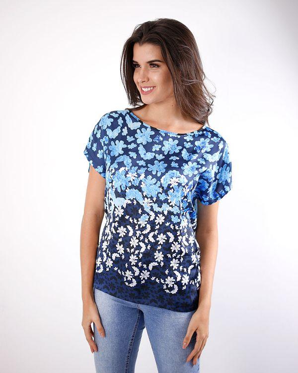 Blusa-Acetinada-Estampa-Floral-Marinho-