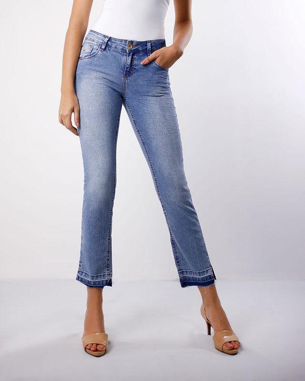 Calca-Jeans-Skinny-Bainha-Desfiada-com-Abertura-Azul