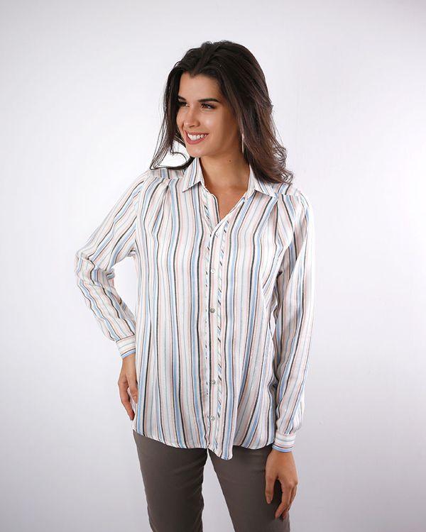 Camisa-Viscose-Listras-Fio-Metalic-com-Pregas-No-Ombro-Azul