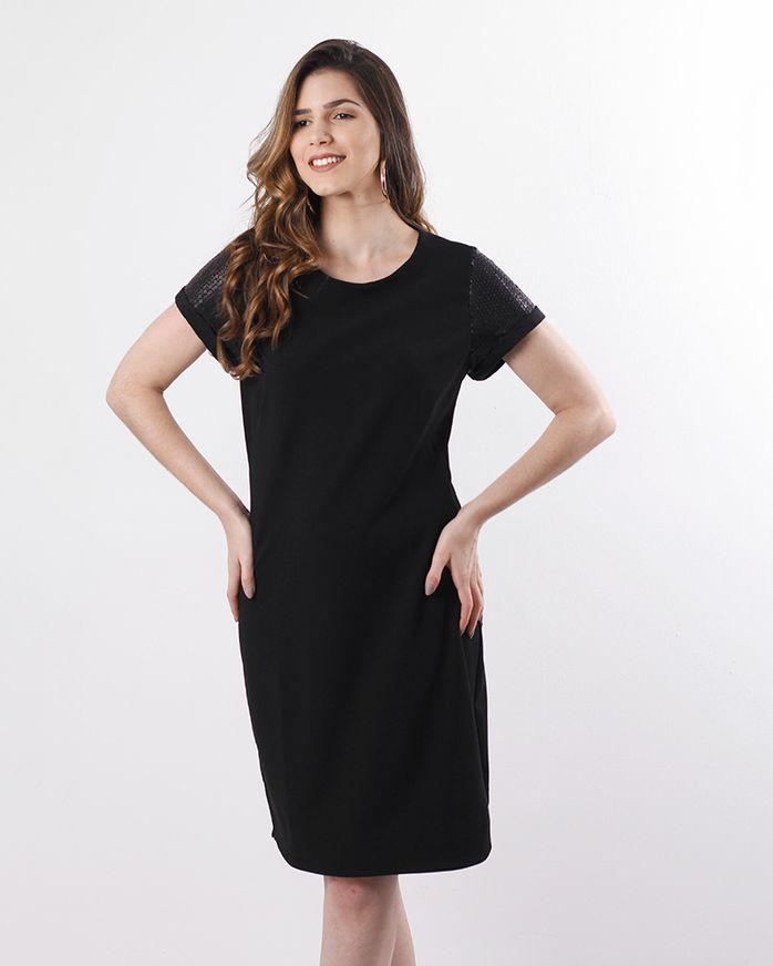 Vestido-Crepe-de-Malha-Mangas-Paete-Preto