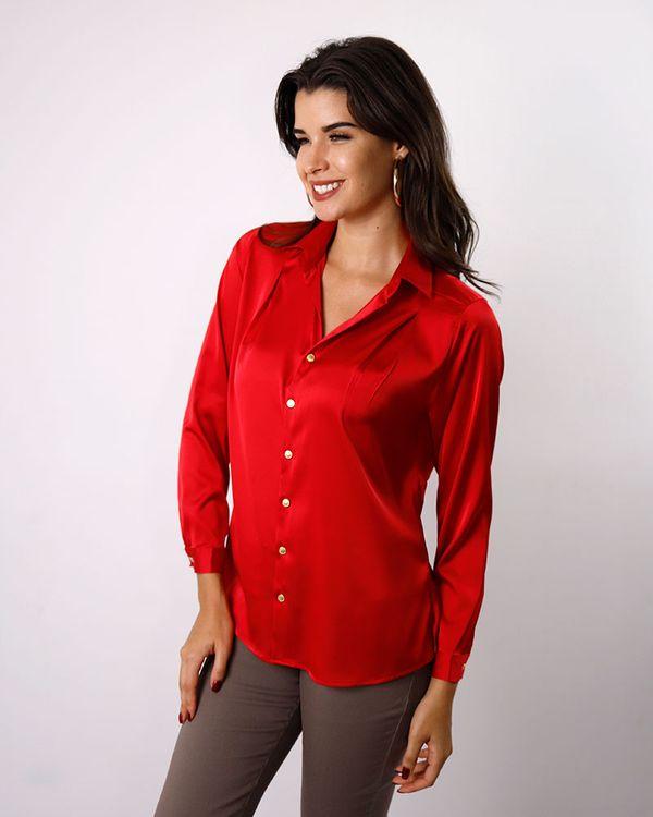 Camisa-Tecido-Acetinado-Ombro-com-Pregas-Vermelho-
