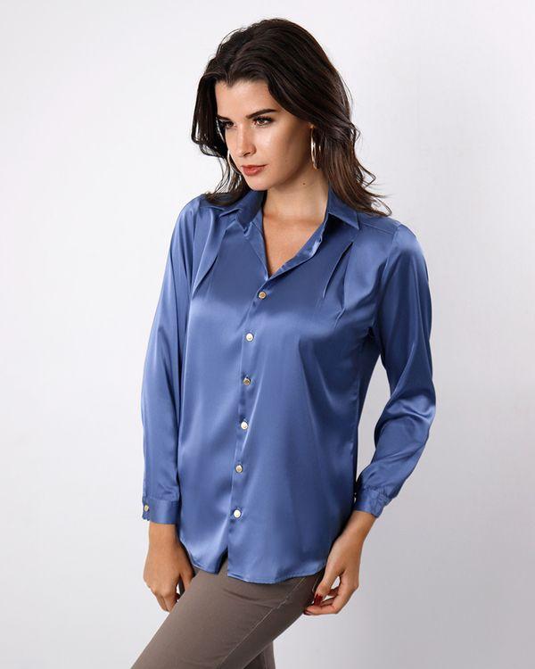 Camisa-Tecido-Acetinado-Ombro-com-Pregas-Azul-