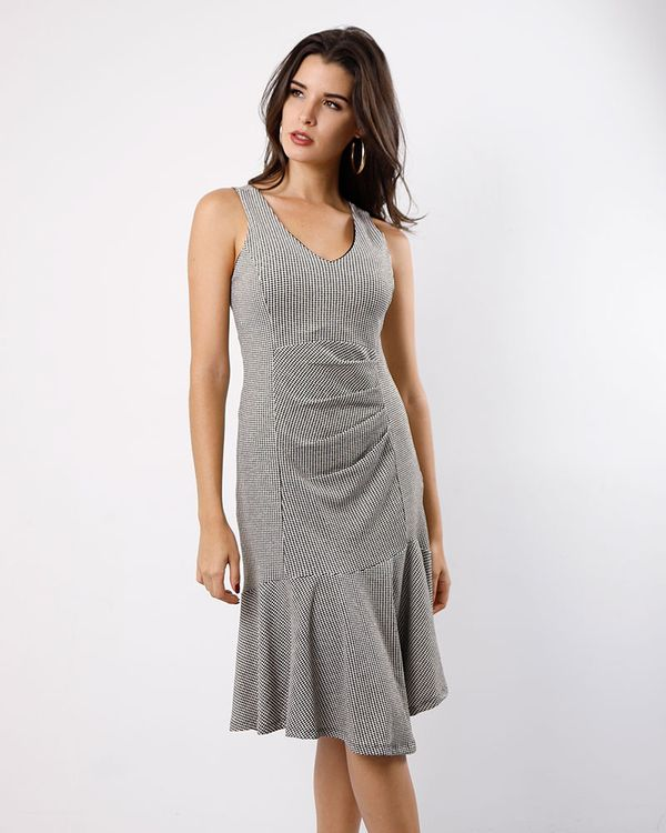 Vestido-Malha-Lurex-com-Pregas-Costas-Transpassada-Preto