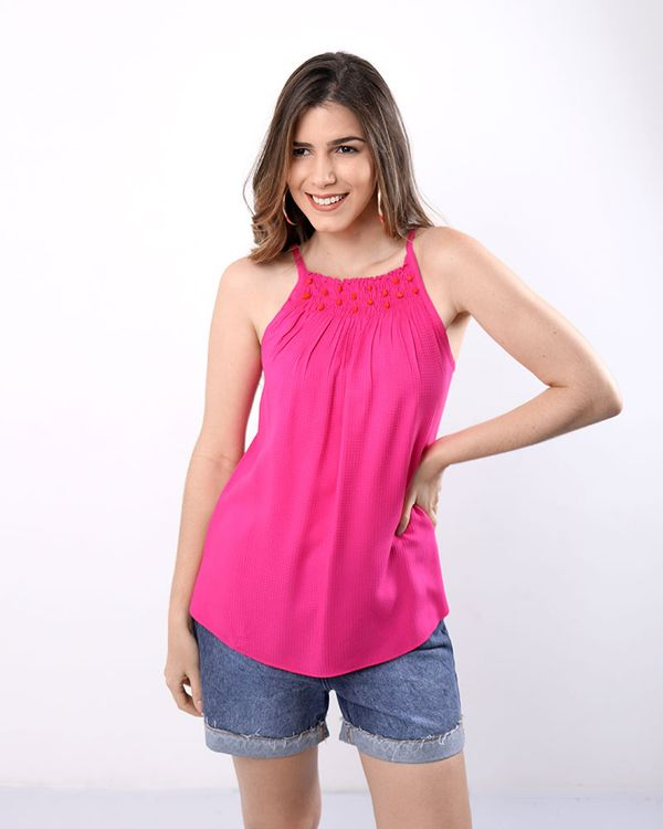 Regata-Crepe-Decote-com-Bordado-Rosa-Flamingo
