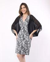 Vestido-Malha-Jacquard-Estampa-Exclusiva-Mangas-Tecido-com-Transparencia-Preto-