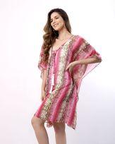 Vestido-Caftan-Tecido-Estampado-com-Pingente-Rosa-
