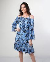 Vestido-Viscose-Estampado-Ombro-Vazado-com-Babados-Azul-