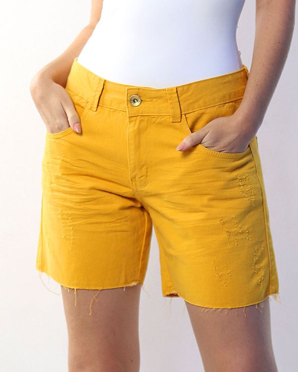 Bermuda-Sarja-Collor-Bainha-Desfiada-Amarelo