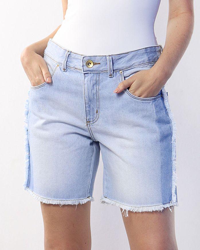 Bermuda-Jeans-com-Desfiados-Azul