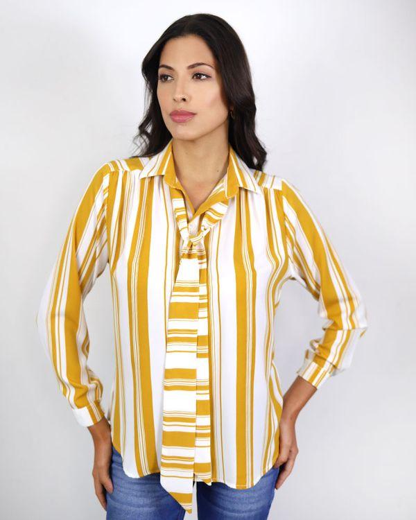 Camisa-Tecido-Listras-Ombro-com-Franzidos-e-Echarpe-Amarelo