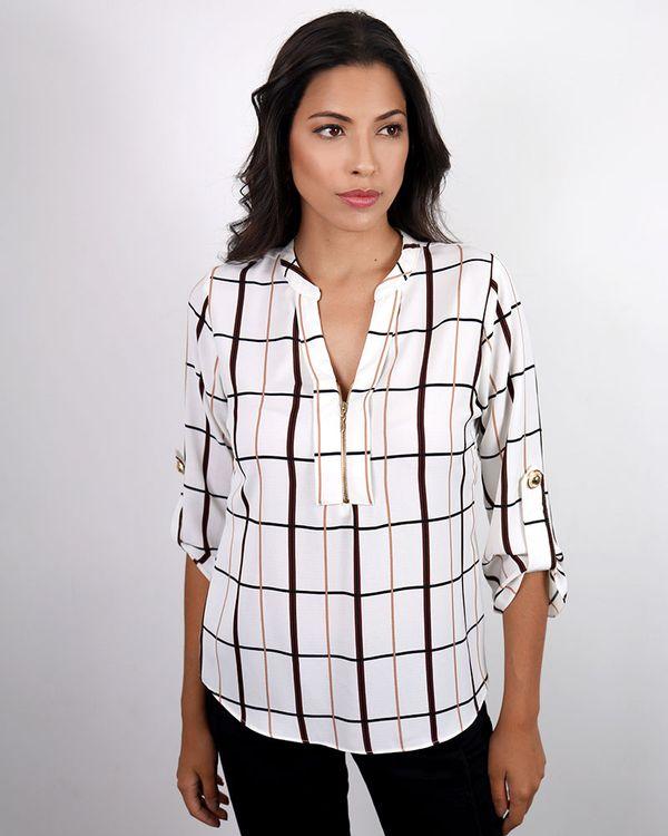 Blusa-Crepe-Estampado-Decote-com-Ziper-Off-White-