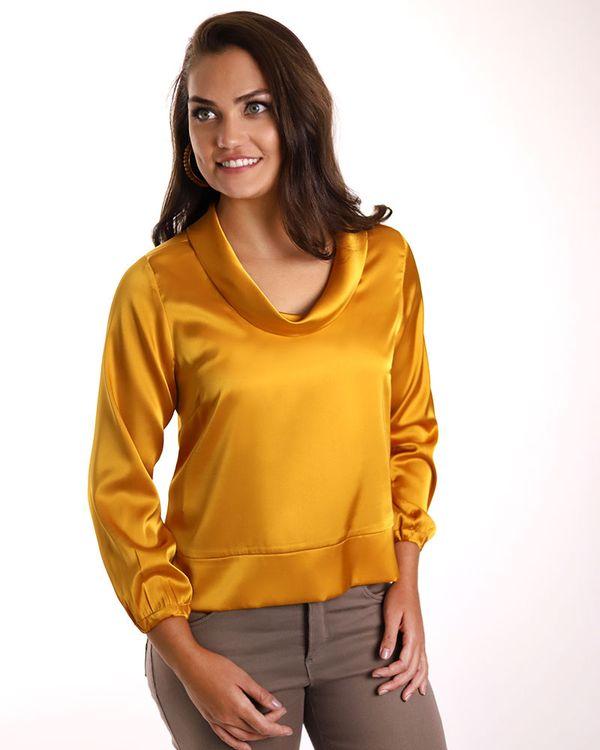 Blusa-Tecido-Acetinado-com-Gola-Drapeada-Amarelo