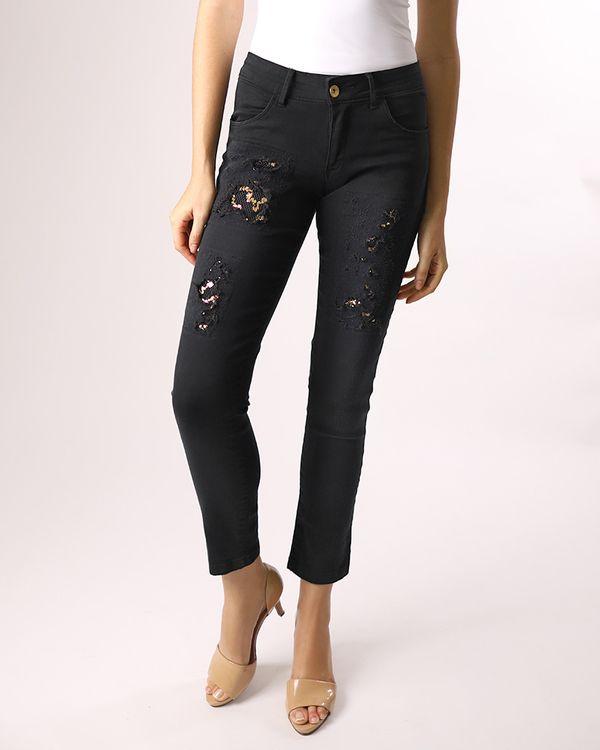 Calca-Skinny-Jeans-Destroyer-com-Tela-Paete-Preto