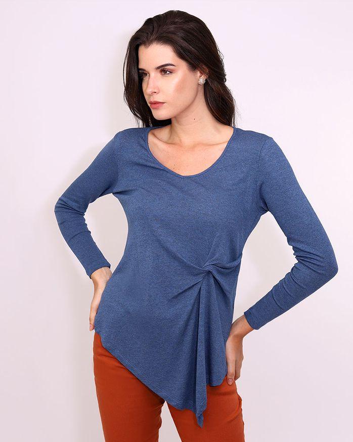Blusa-Malha-Tricot-Frente-Torcida-Barra-Assimetrica-Azul