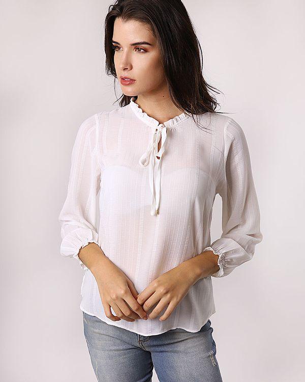 Blusa-Tecido-Texturizado-Gola-com-Babados-e-Amarracao-Off-White