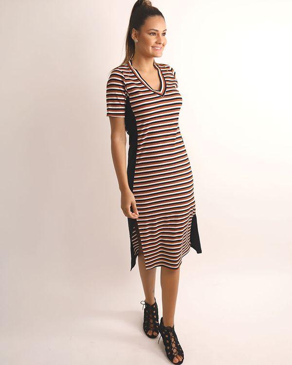 Vestido-Midi-Malha-Canelado-Listras-com-Fio-Metalic-Telha