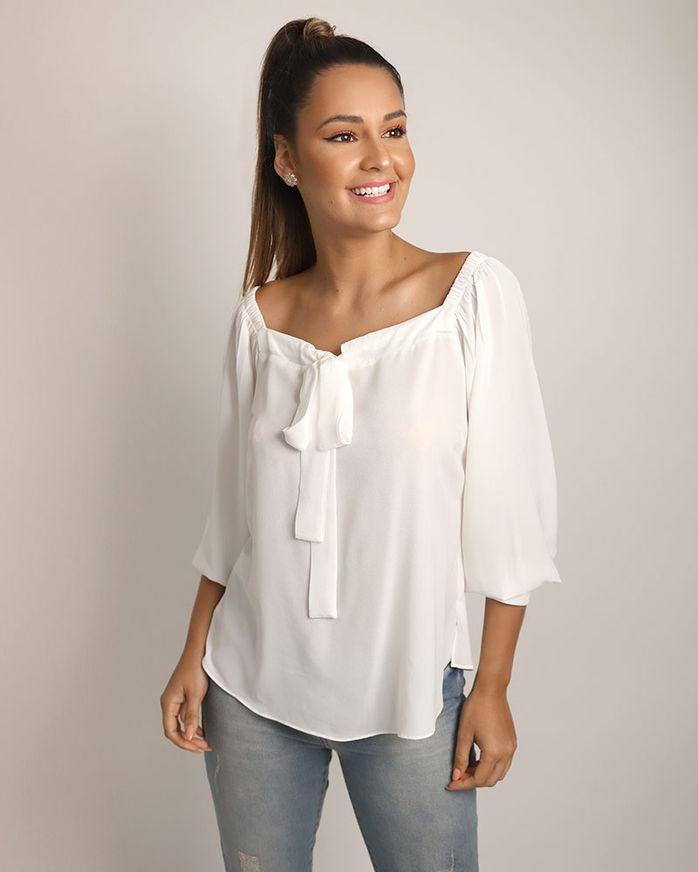 Blusa-Crepe-Decote-Geometrico-com-Laco-Off-White