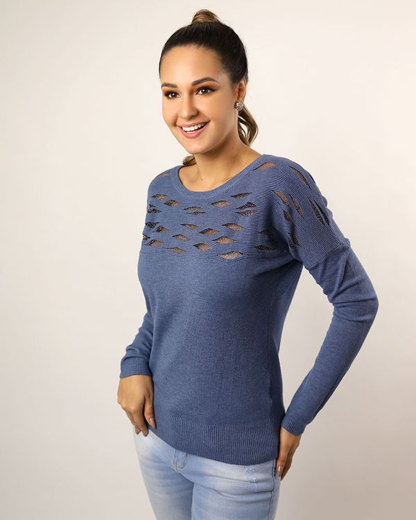 Blusa-Tricot-Leve-Frente-Detalhe-Tule-Metalic-Azul