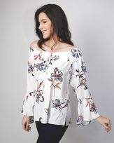 Blusa-Crepe-Estampada-Decote-com-Amarracao-Off-White-