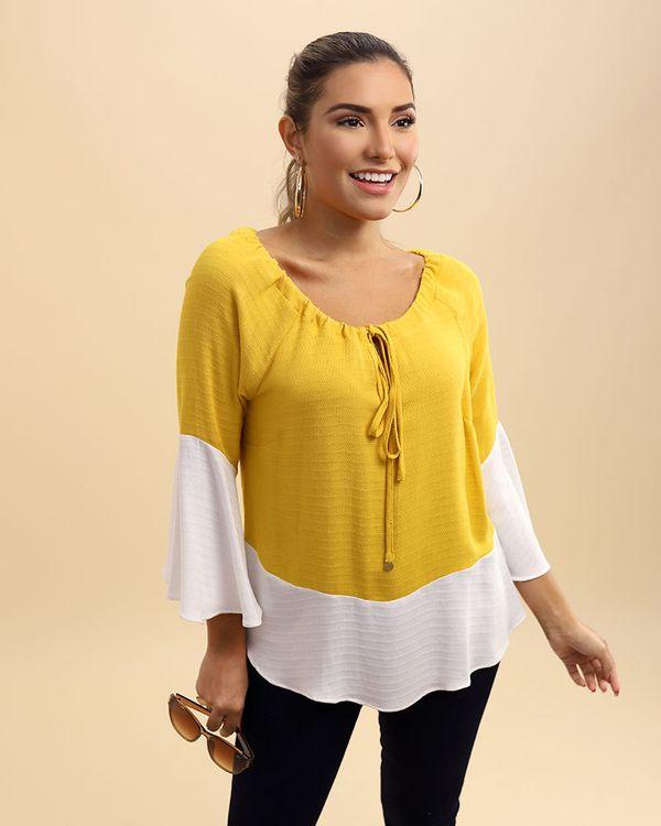 Blusa-Tecido-Texturizado-Ombro-a-Ombro-Color-Block-Amarelo
