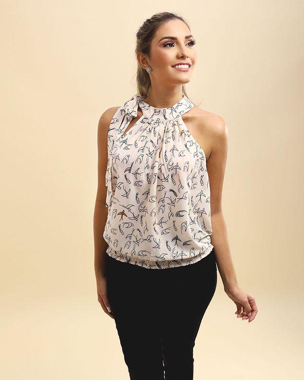 Blusa-Tecido-Estampado-Super-Cava-Balone-Decote-com-Laco-Off-White