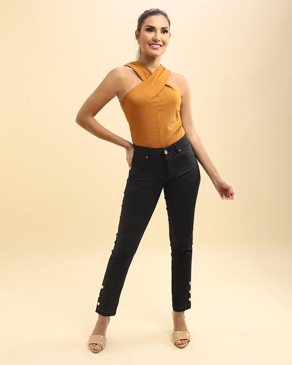 Calca-Jeans-Skinny-Perna-com-Botoes-Preto