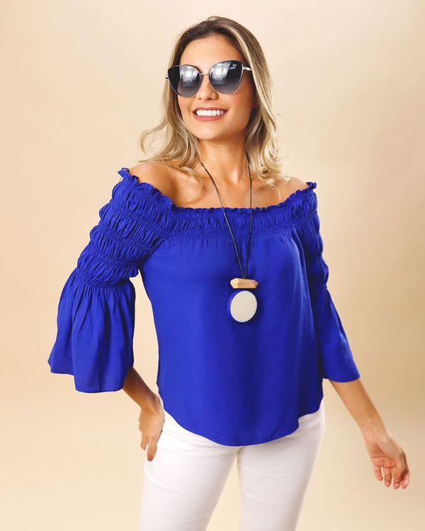 Blusa-Tecido-Ombro-a-Ombro-com-Lastex-Azul-Bic