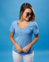Blusa-Malha-Canelada-Decote-com-Botoes-Azul-Ceu