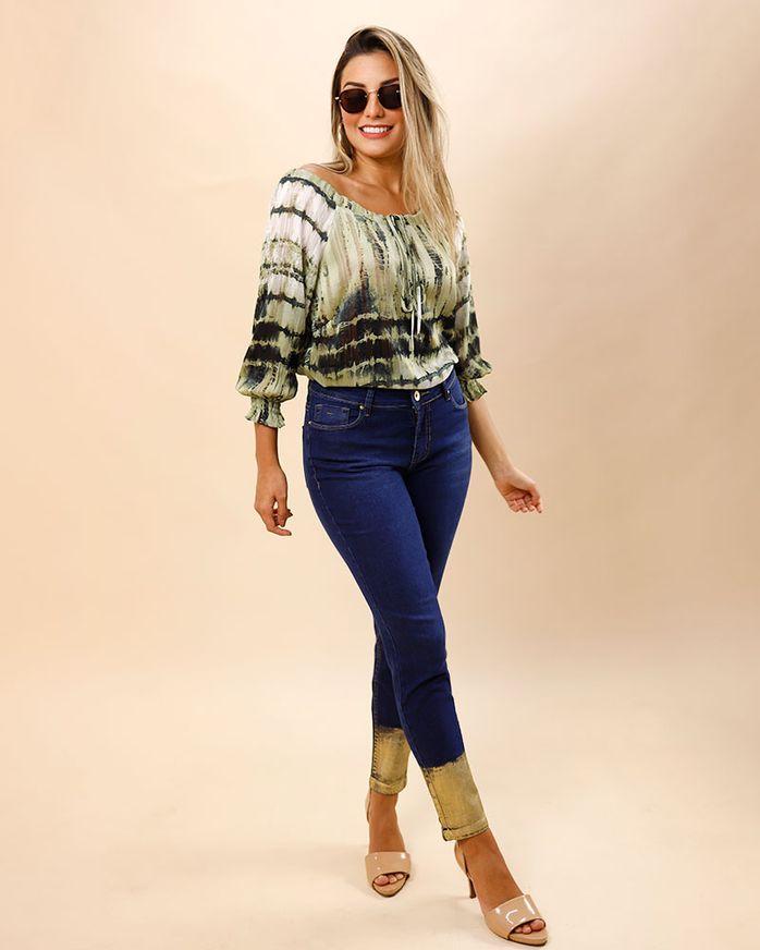 Calca-Skinny-Jeans-com-Foil-Azul