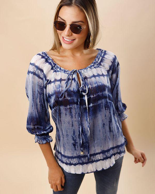 Blusa-Ombro-a-Ombro-Tecido-Estampa-Dip---Dye-com-Fio-Metalic-Azul