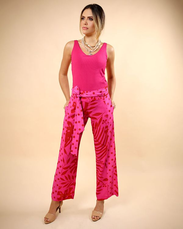 Calca-Reta-Clochard-Mix-Estampa-Nervi-com-Faixa-Pink-