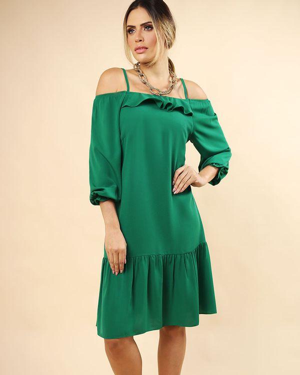 Vestido-Tecido-Ombro-Vazado-Decote-com-Babados-Verde-Pistache