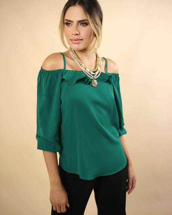 Blusa-Tecido-Ombro-Vazado-Decote-com-Babado-Verde-Pistache