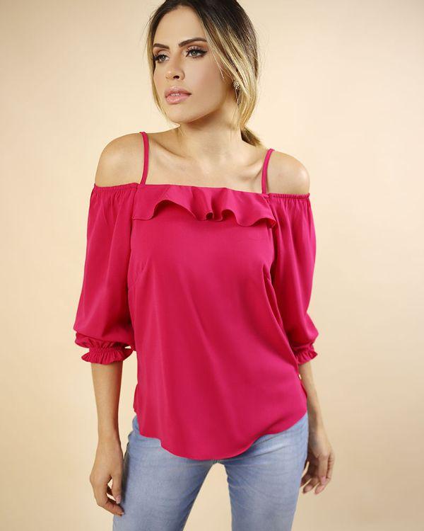Blusa-Tecido-Ombro-Vazado-Decote-com-Babado-Pink